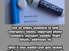 How to use a chapstick to potentially save you whilst on holiday