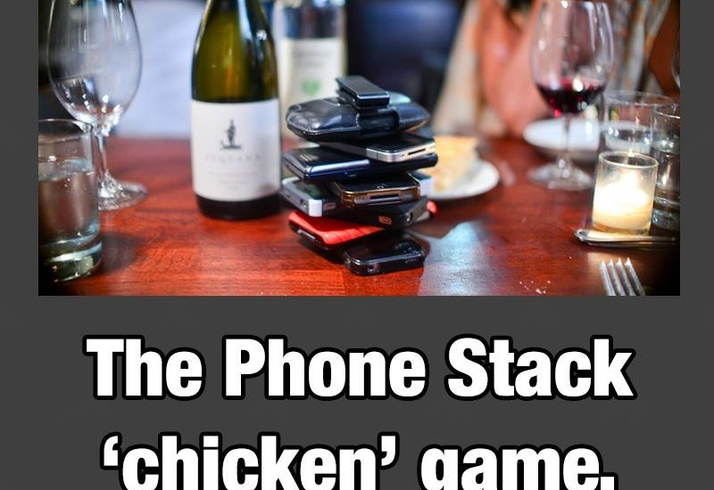 The Phone Stack 'Chicken' Game