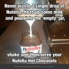 Never waste Nutella with this awesome technique