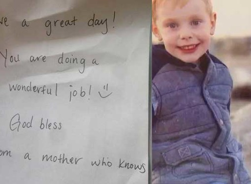 Act of kindness leads mother to tears