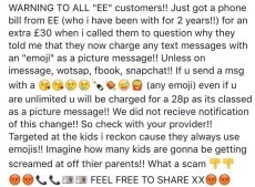 [Still happening 2 years on] EE & O2 customers getting charged for Emoji via SMS