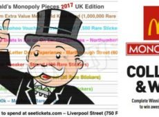 New for 2017: McDonald's Monopoly – Rare Pieces Revealed + all the prize info