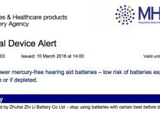 Government warns about Hearing aid batteries that can set fire