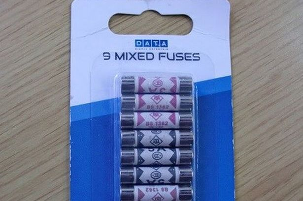 RECALL: 9 mixed fuses – Poundworld = Possibility of overheating and fire.