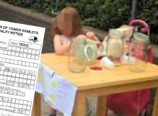 5-year-old girl's lemonade stand shut down by the council and £150 fine given (later cancelled)