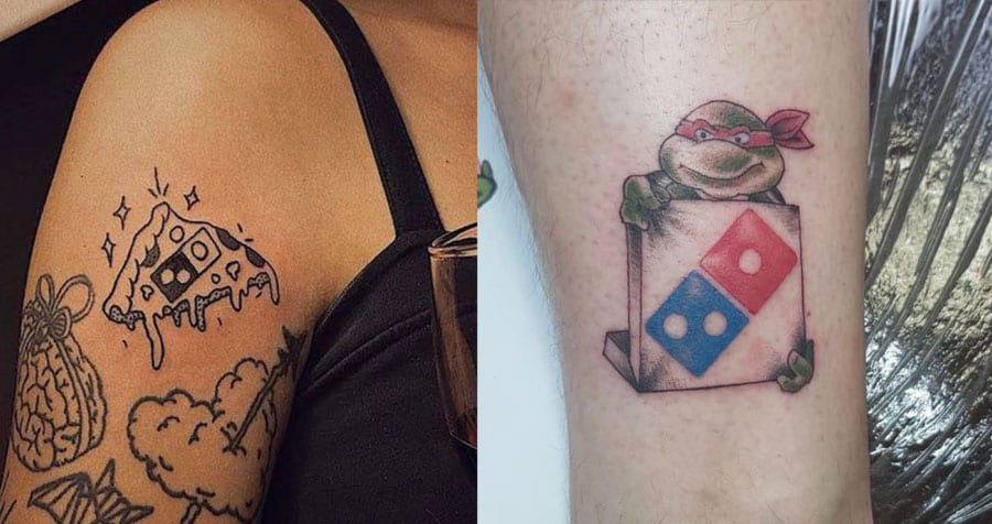 Would you get a Domino's Pizza Tattoo in exchange for 100 pizzas a year for the next 100 years?